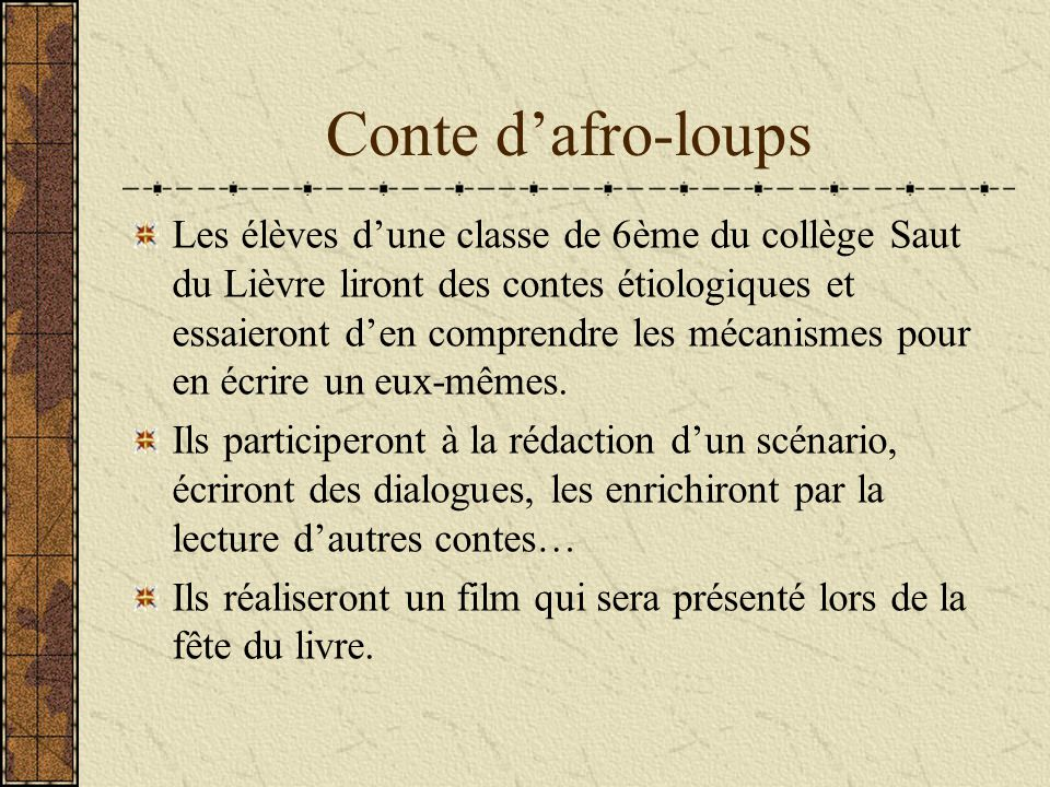 Conte d'afro-loups