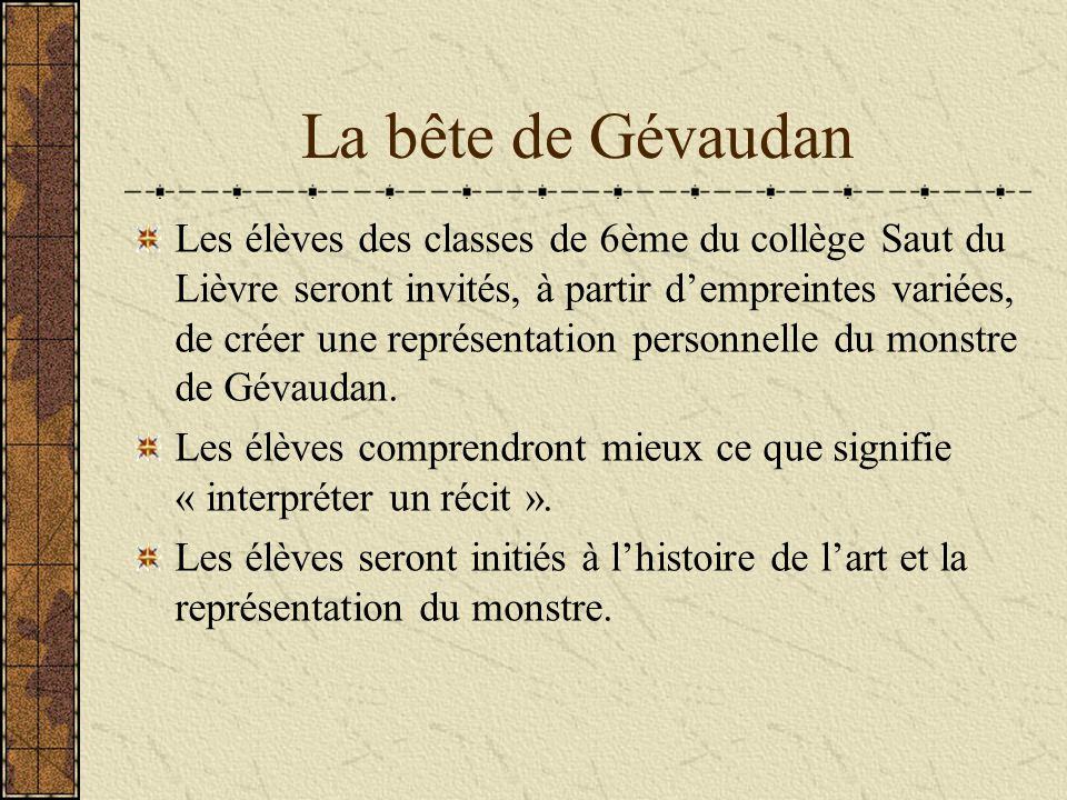 La bête de Gévaudan