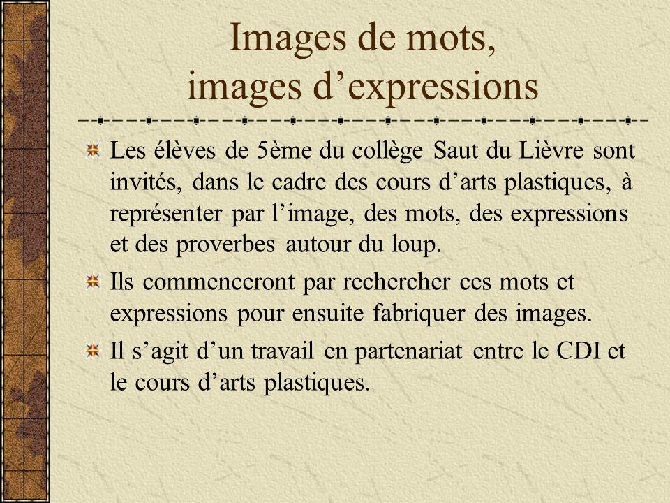 Images de mots, images d'expressions