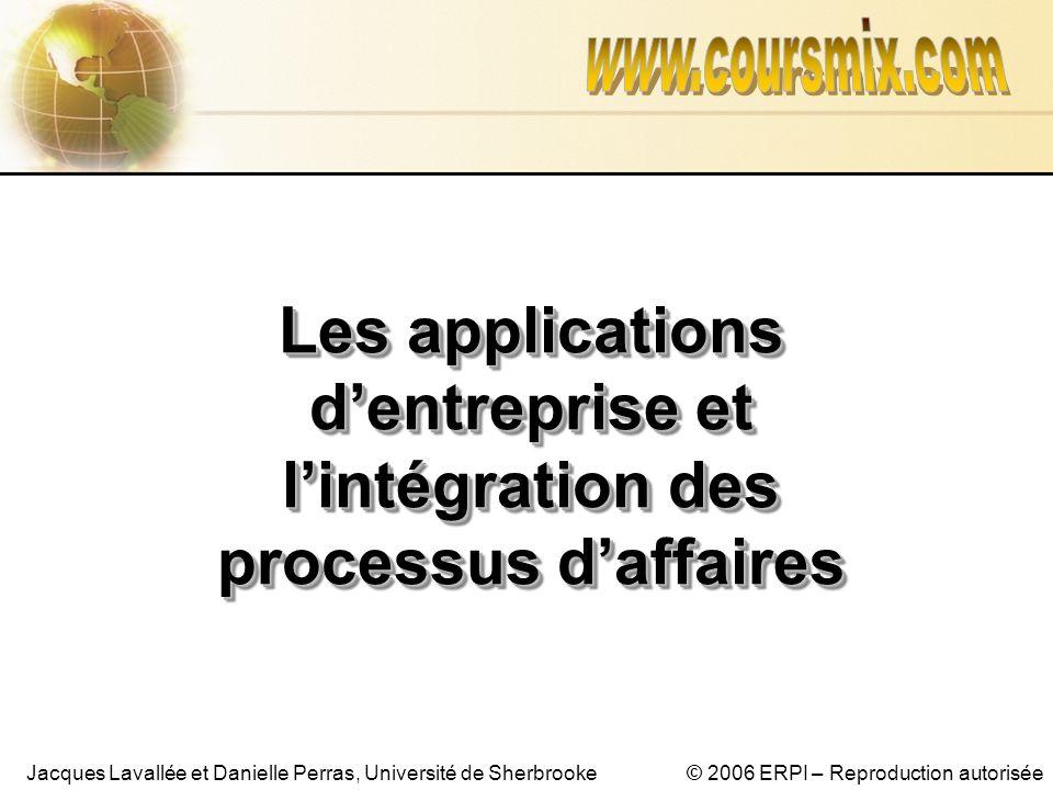 www.coursmix.com Les applications d'entreprise et l'intégration des processus d'affaires