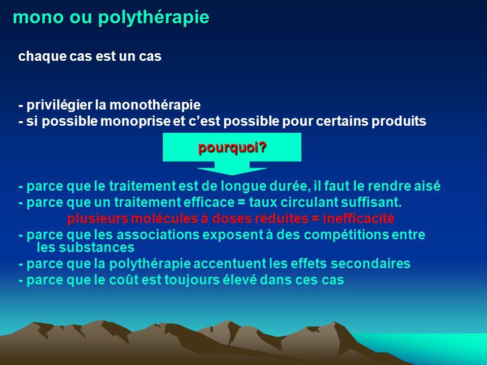 mono ou polythérapie chaque cas est un cas