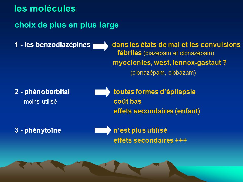 les molécules choix de plus en plus large