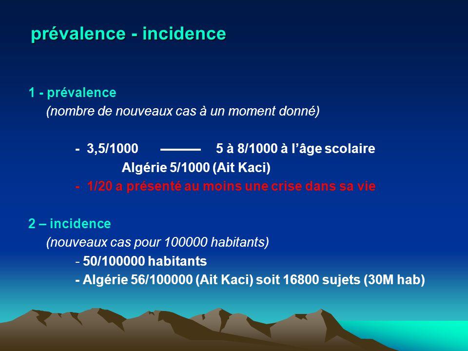 prévalence - incidence
