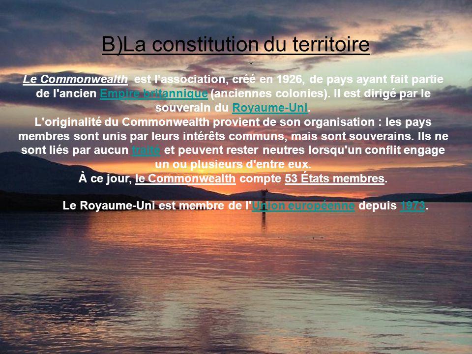 B)La constitution du territoire