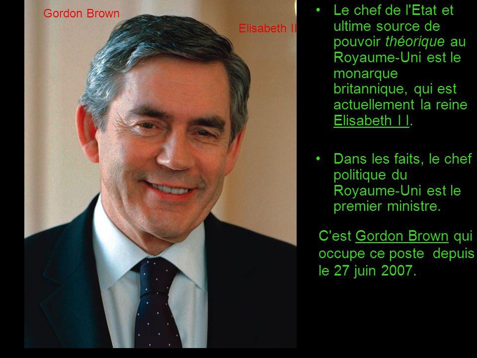 C est Gordon Brown qui occupe ce poste depuis le 27 juin 2007.