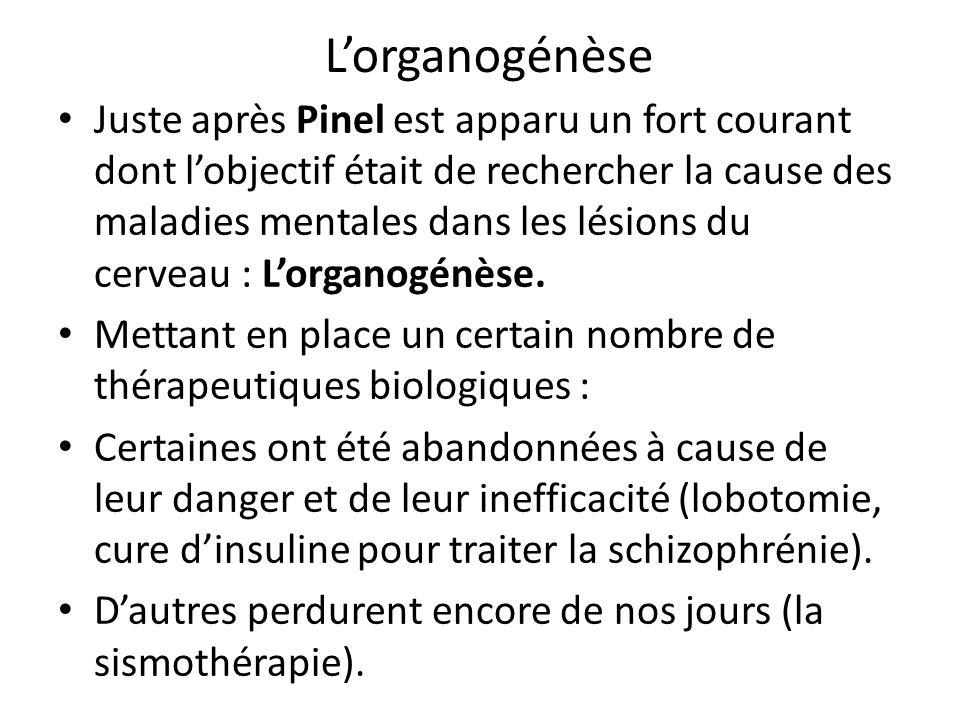 L'organogénèse