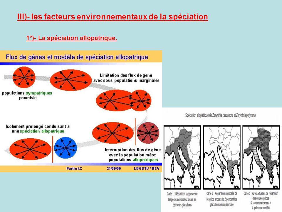 III)- les facteurs environnementaux de la spéciation