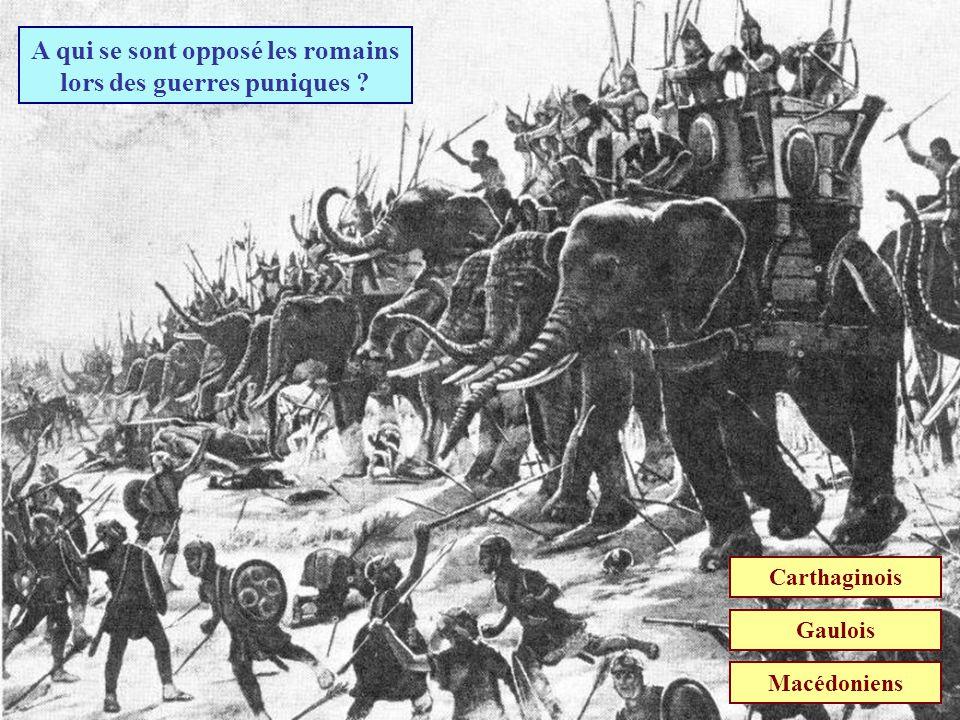 A qui se sont opposé les romains lors des guerres puniques