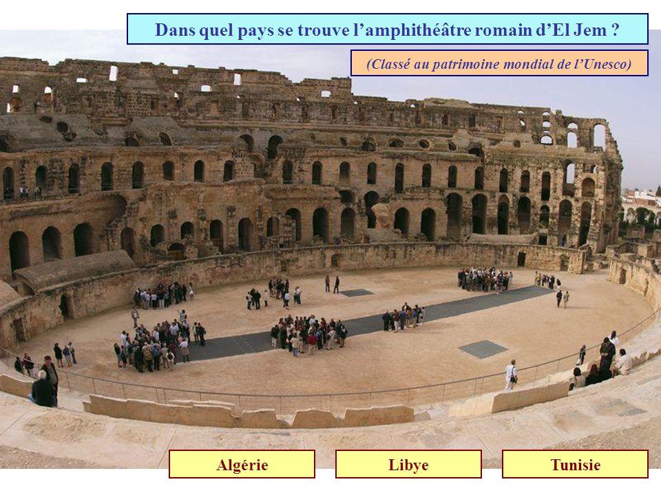 Dans quel pays se trouve l'amphithéâtre romain d'El Jem