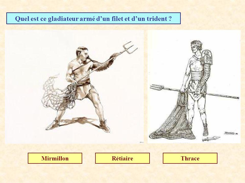 Quel est ce gladiateur armé d'un filet et d'un trident