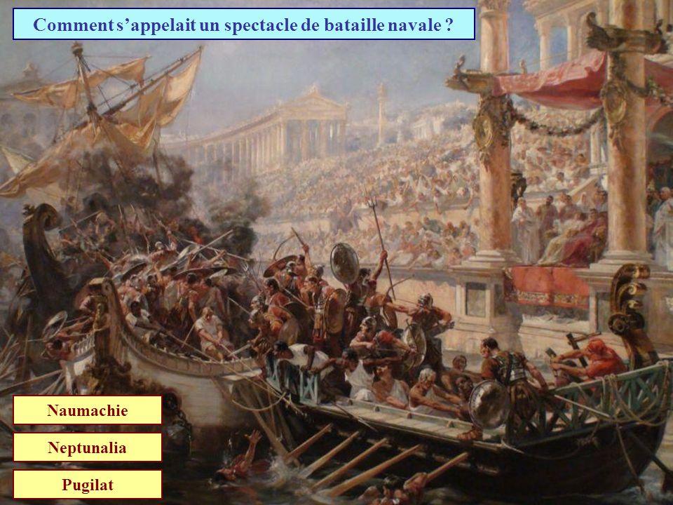 Comment s'appelait un spectacle de bataille navale