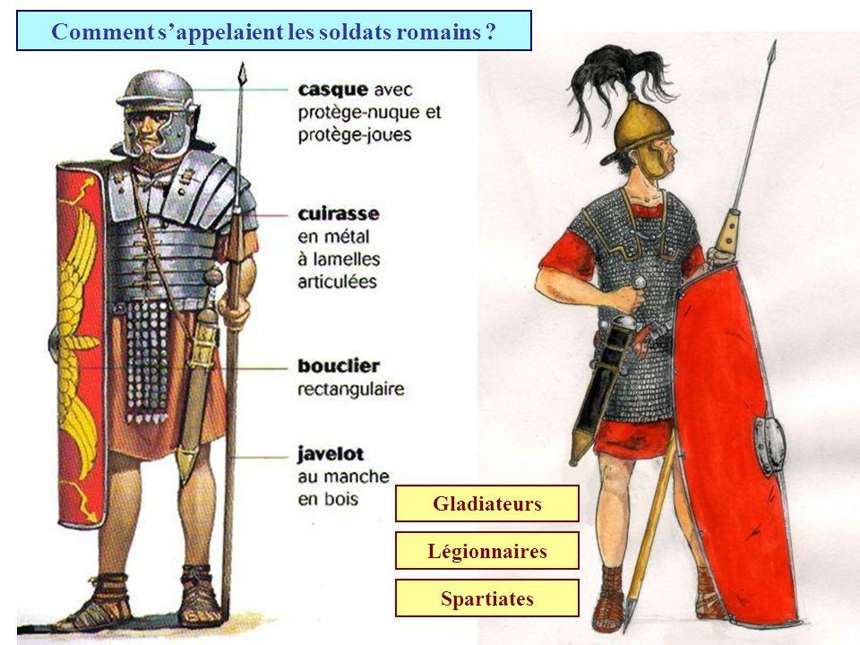 Comment s'appelaient les soldats romains