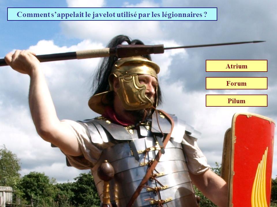 Comment s'appelait le javelot utilisé par les légionnaires