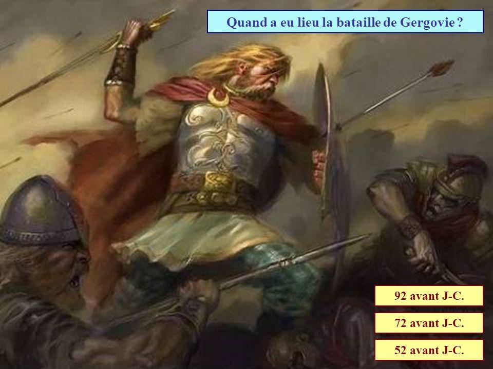 Quand a eu lieu la bataille de Gergovie