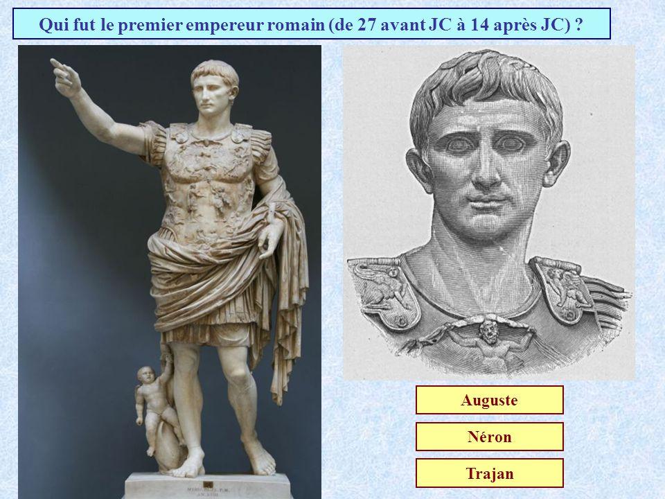 Qui fut le premier empereur romain (de 27 avant JC à 14 après JC)