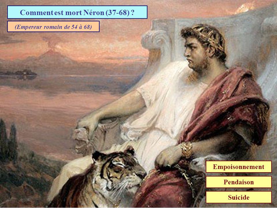 Comment est mort Néron (37-68)
