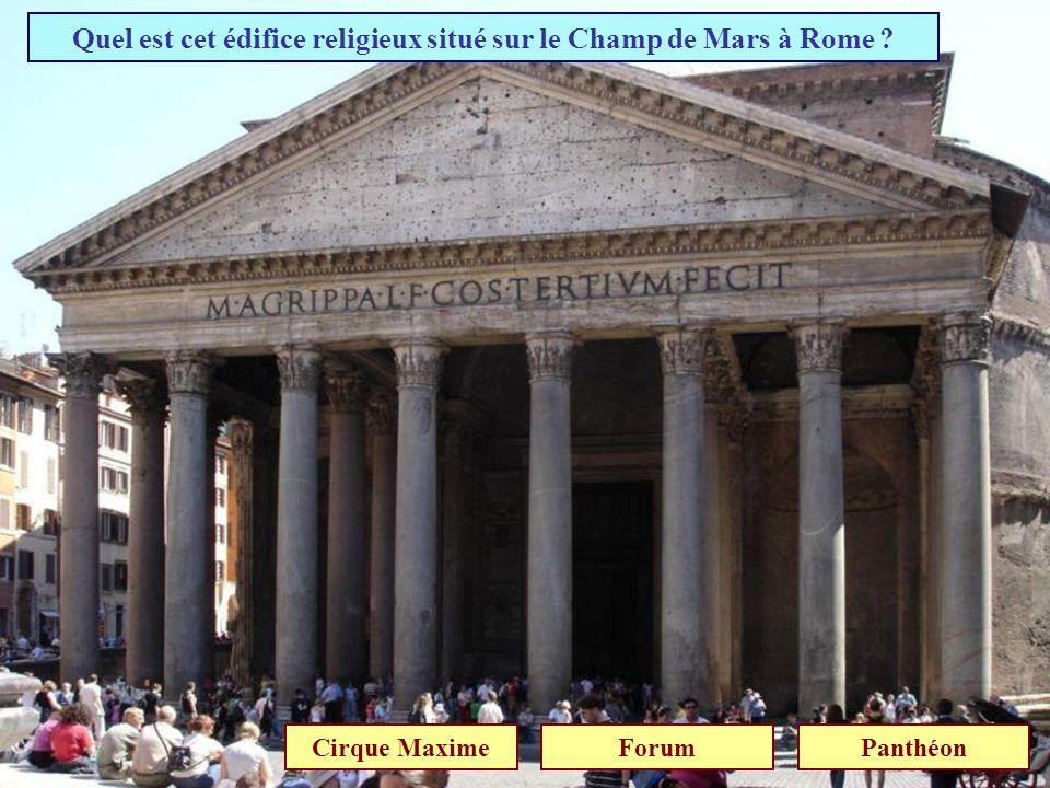 Quel est cet édifice religieux situé sur le Champ de Mars à Rome
