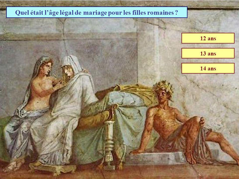 Quel était l'âge légal de mariage pour les filles romaines
