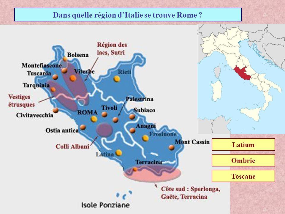 Dans quelle région d'Italie se trouve Rome