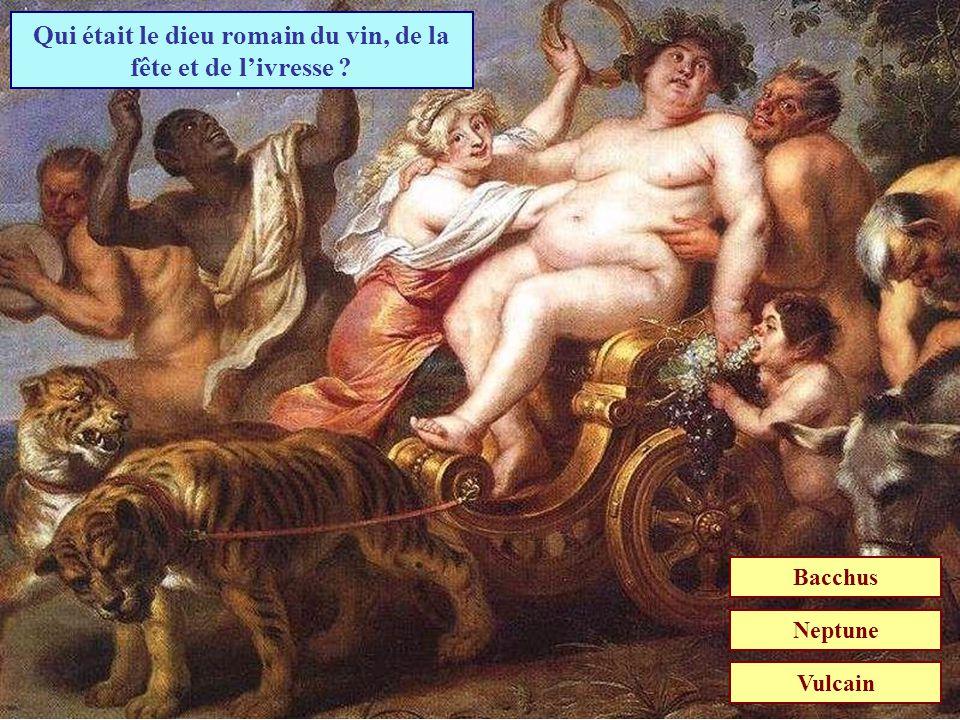 Qui était le dieu romain du vin, de la fête et de l'ivresse