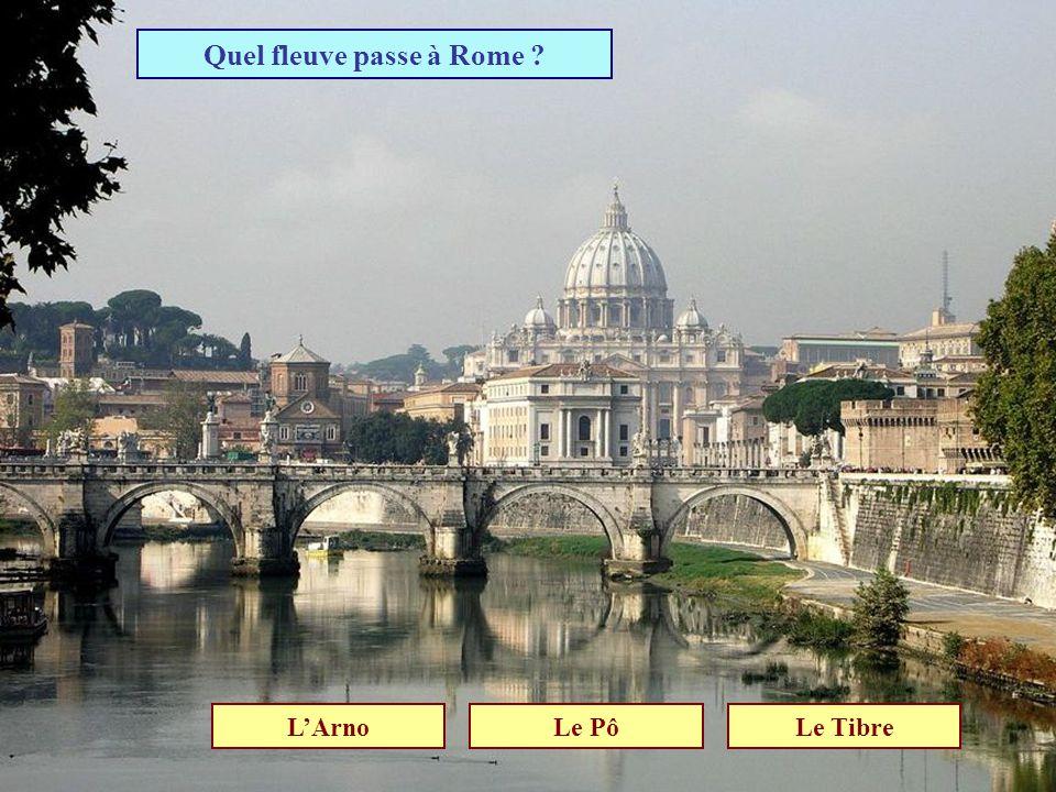 Quel fleuve passe à Rome
