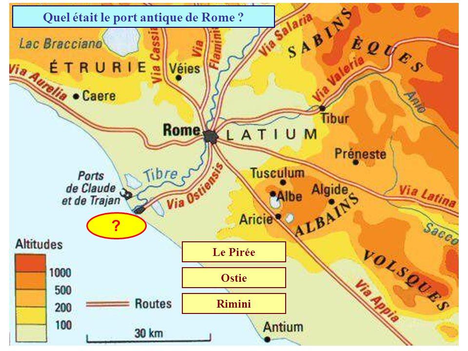 Quel était le port antique de Rome