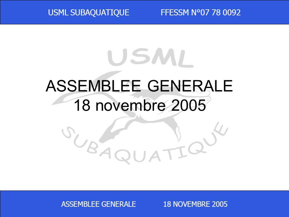 ASSEMBLEE GENERALE 18 novembre 2005