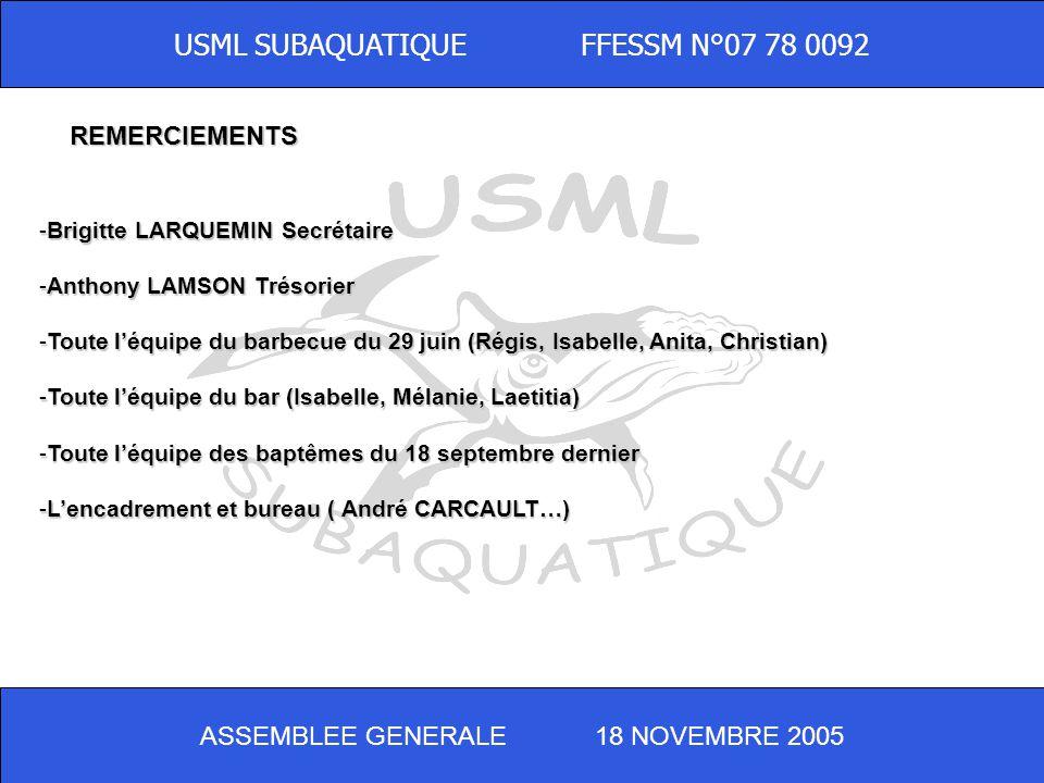 USML SUBAQUATIQUE FFESSM N°07 78 0092