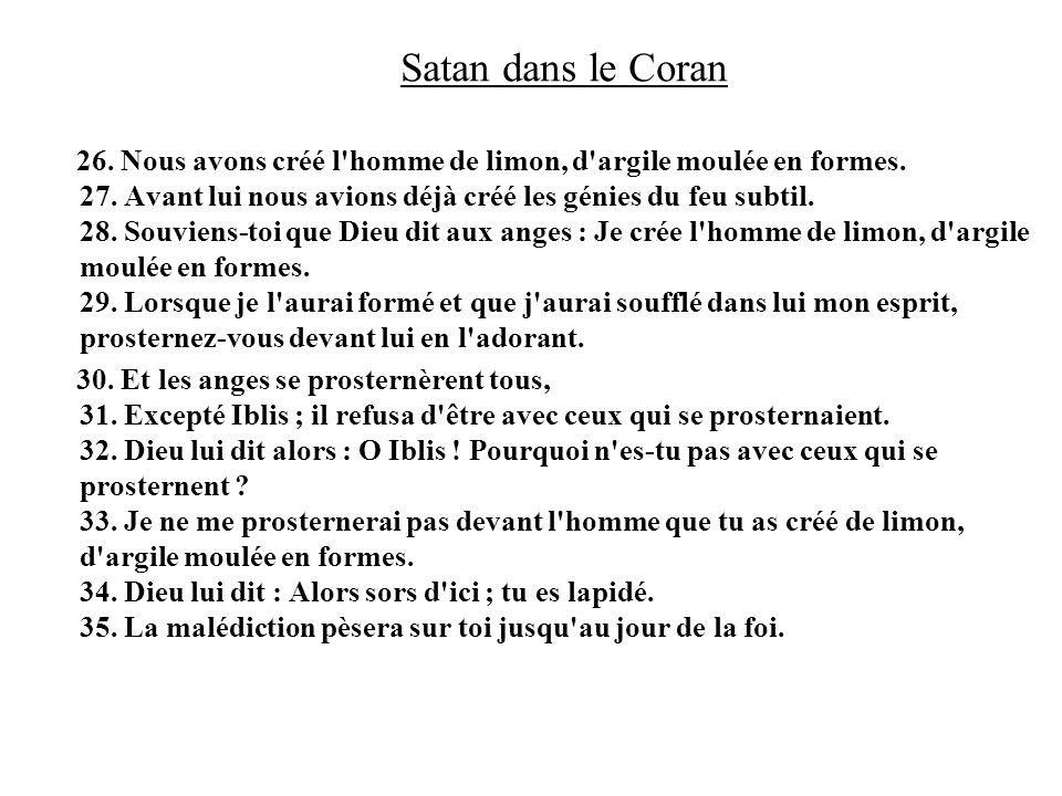 Satan dans le Coran