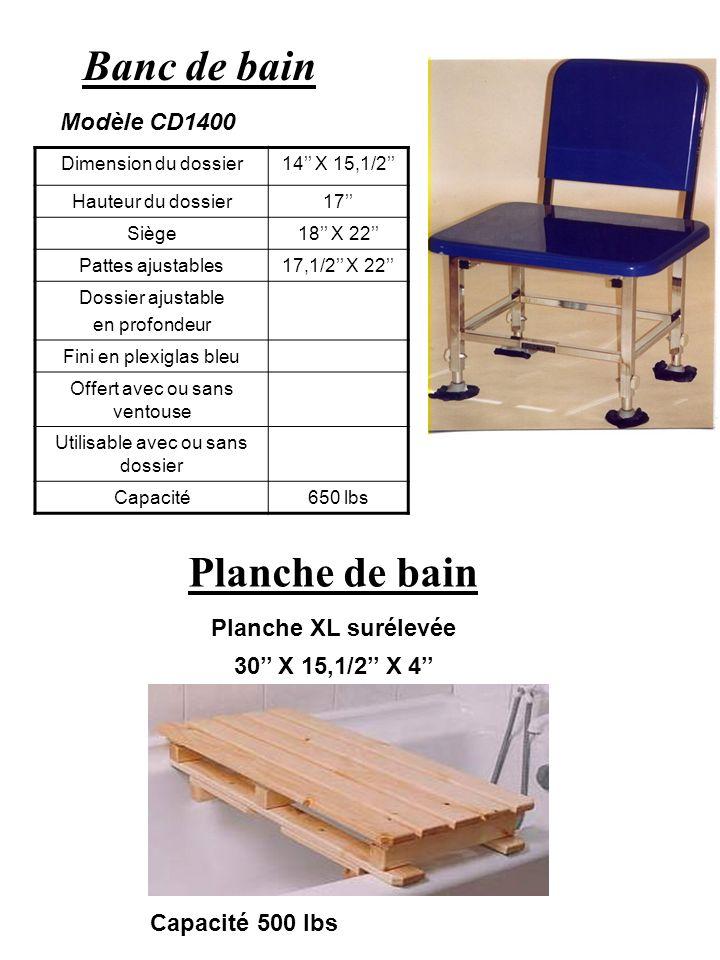 Banc de bain Planche de bain Modèle CD1400 Planche XL surélevée