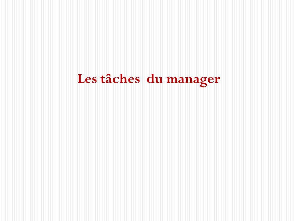 Les tâches du manager