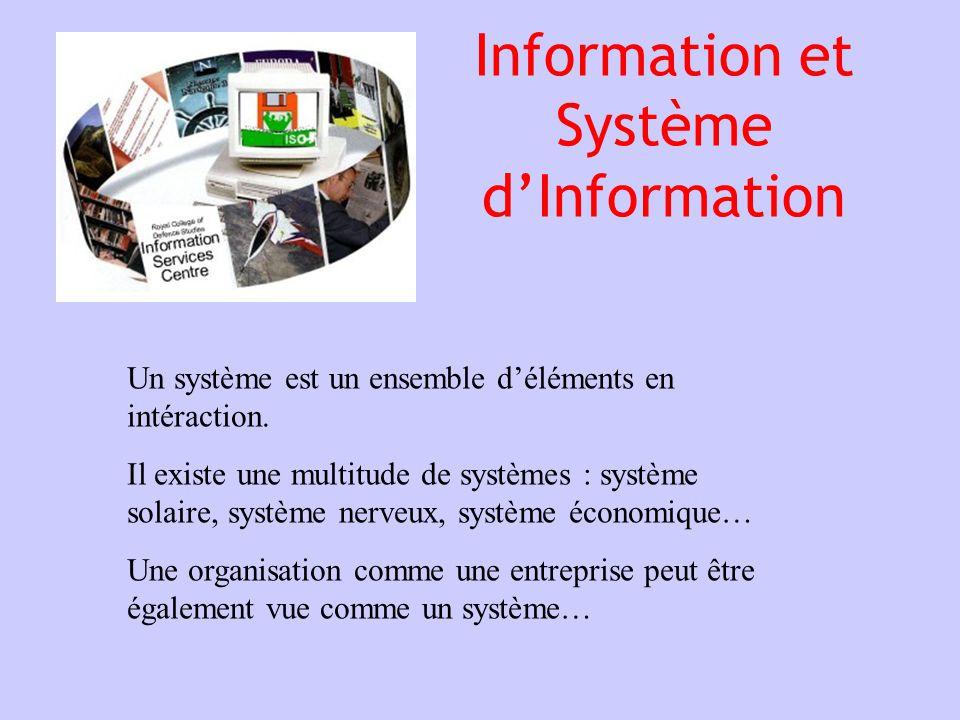 Information et Système d'Information