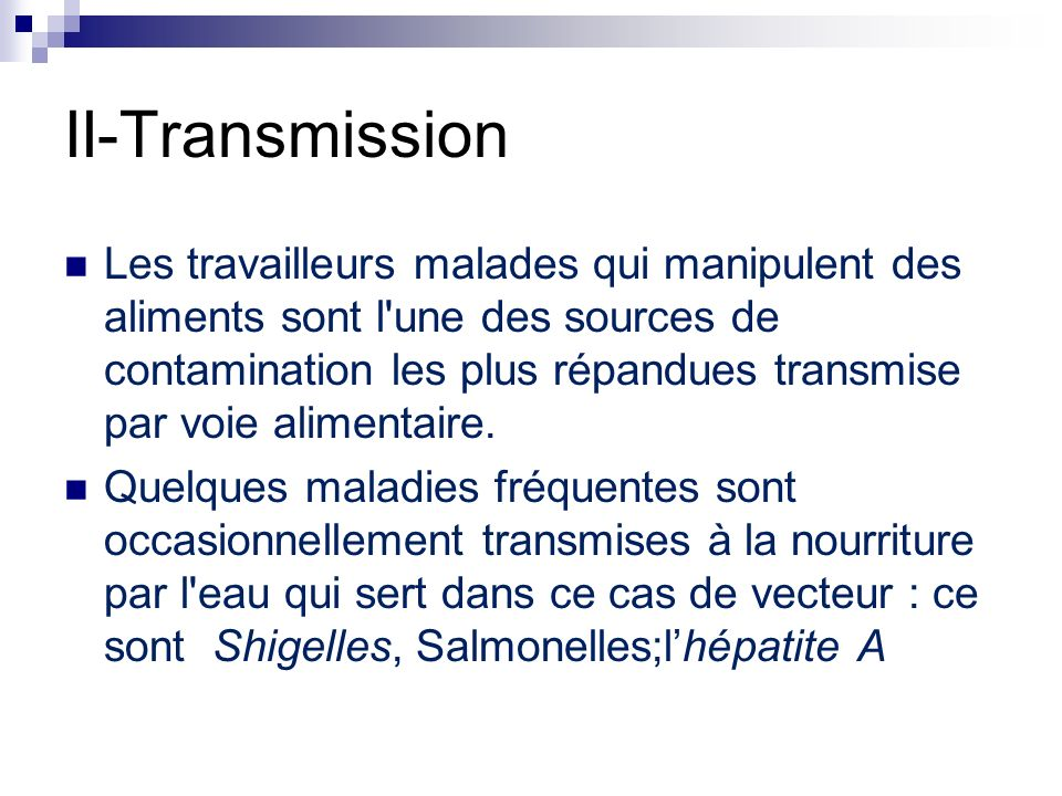 II-Transmission