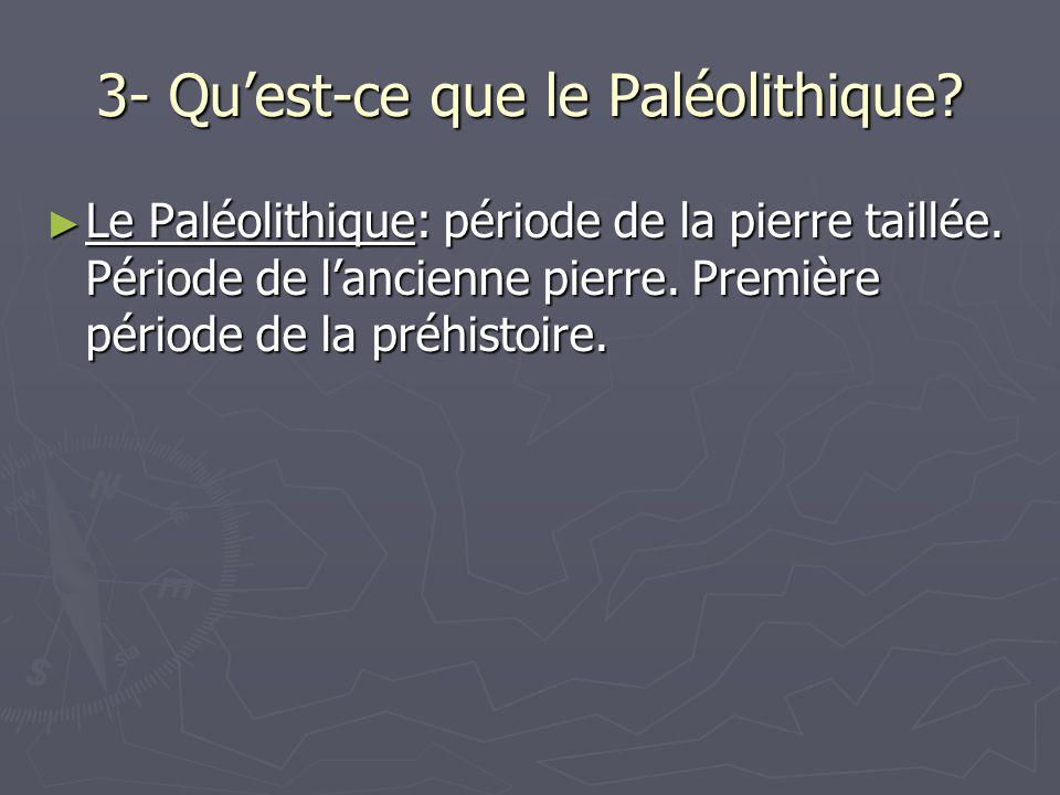 3- Qu'est-ce que le Paléolithique