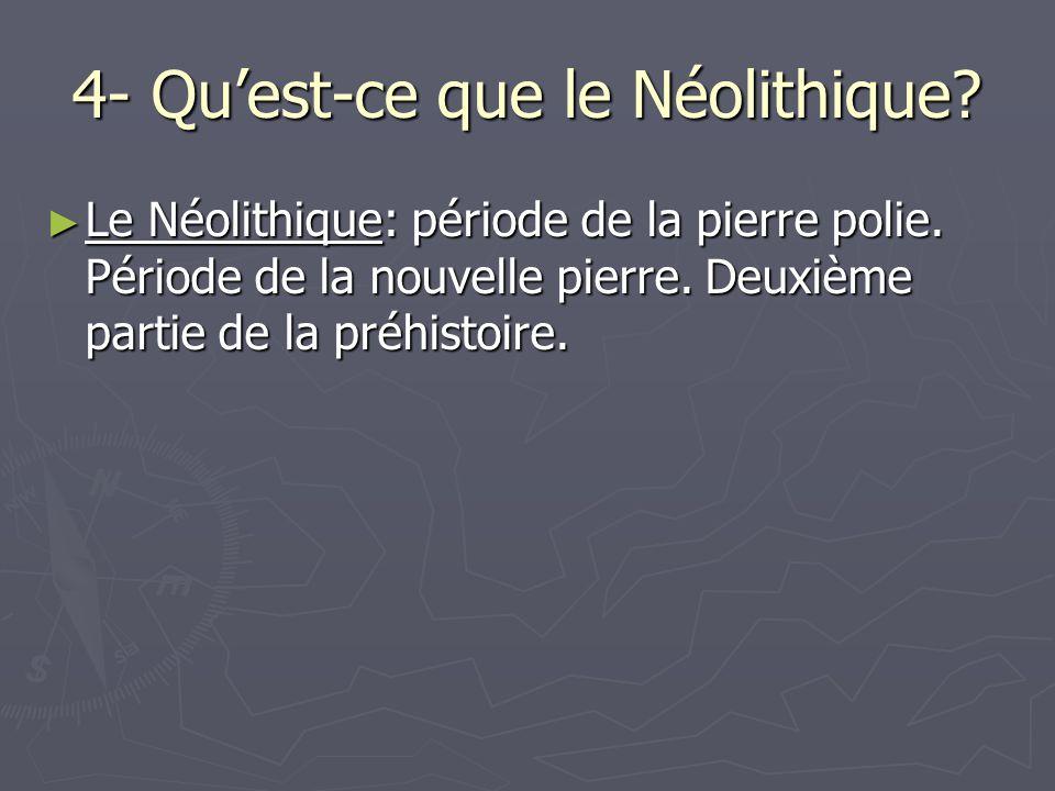 4- Qu'est-ce que le Néolithique