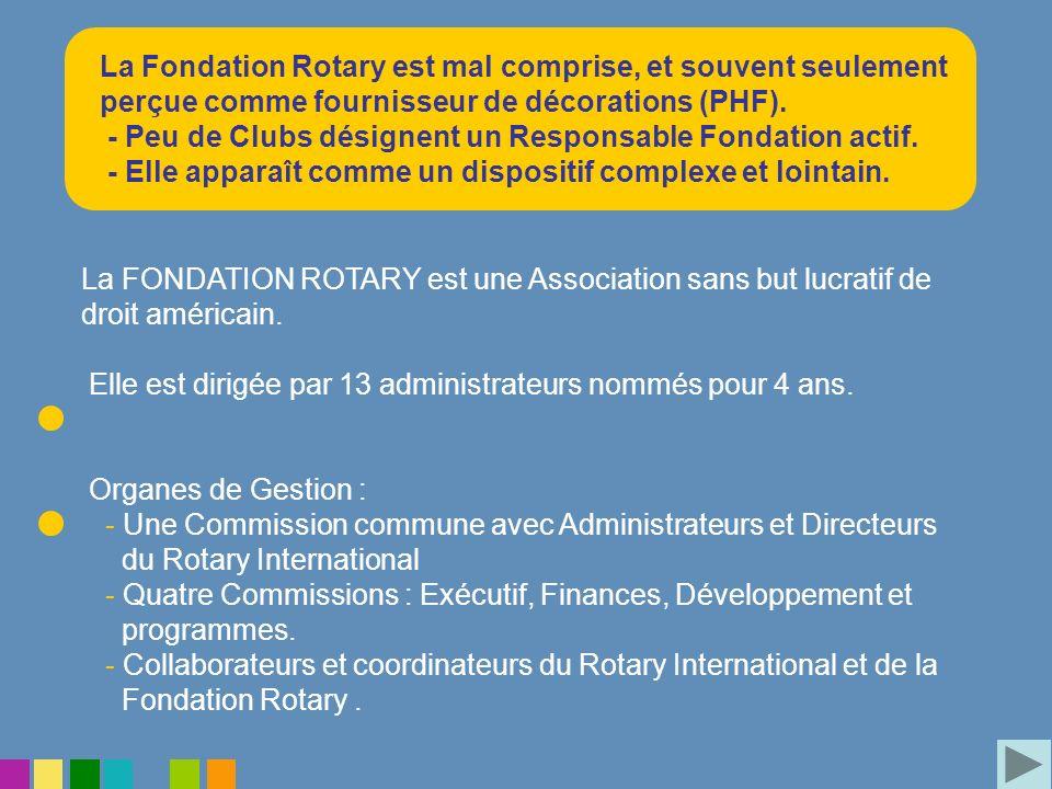 La Fondation Rotary est mal comprise, et souvent seulement