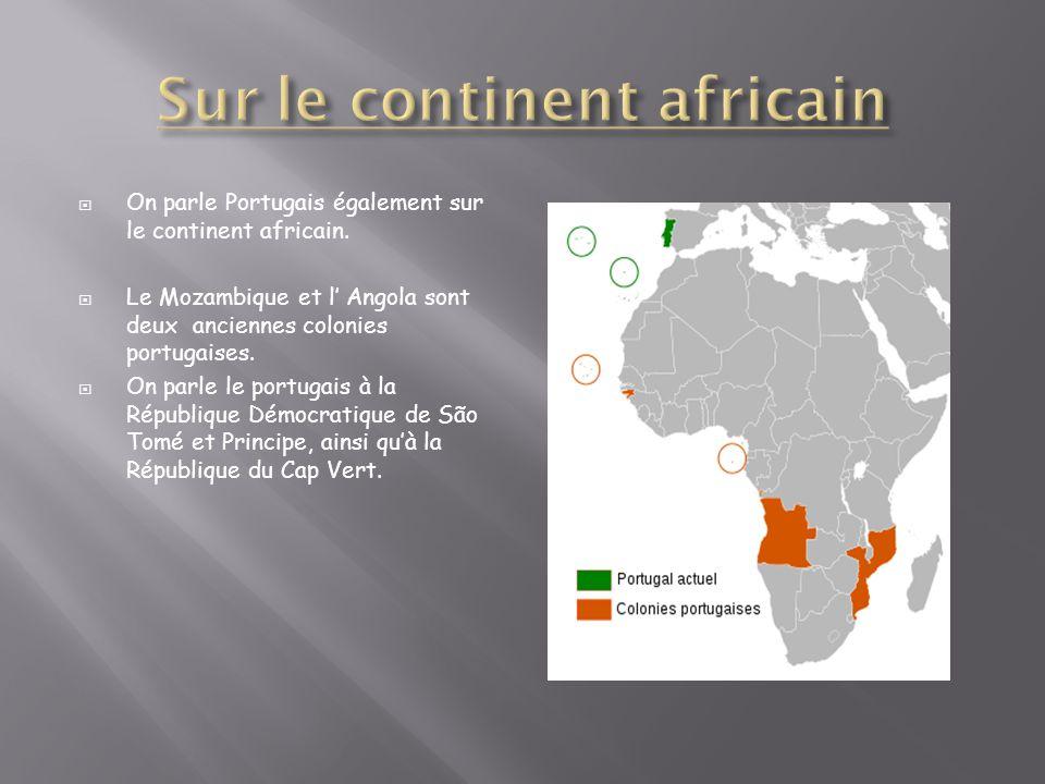 Sur le continent africain