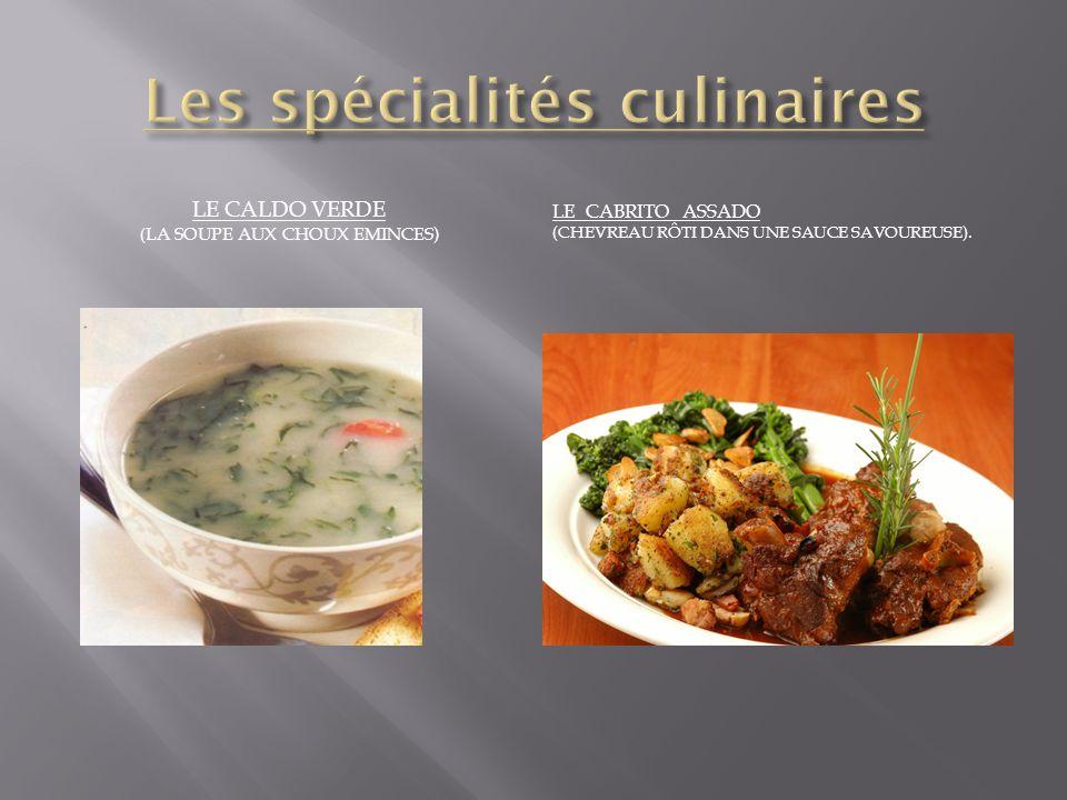 Les spécialités culinaires