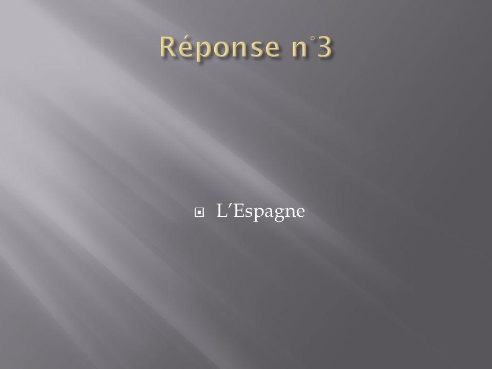 Réponse n°3 L'Espagne