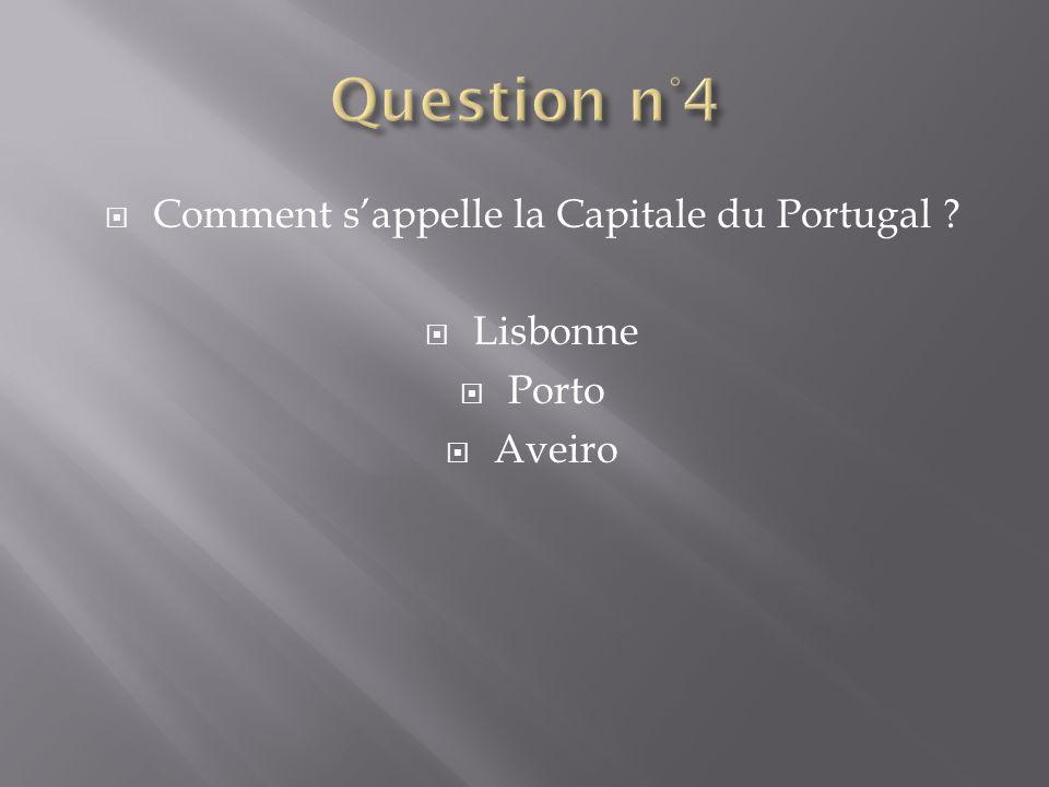 Comment s'appelle la Capitale du Portugal