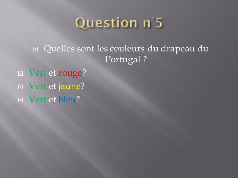 Quelles sont les couleurs du drapeau du Portugal