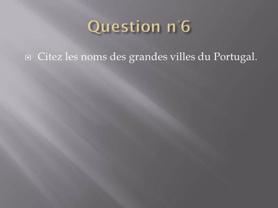 Citez les noms des grandes villes du Portugal.