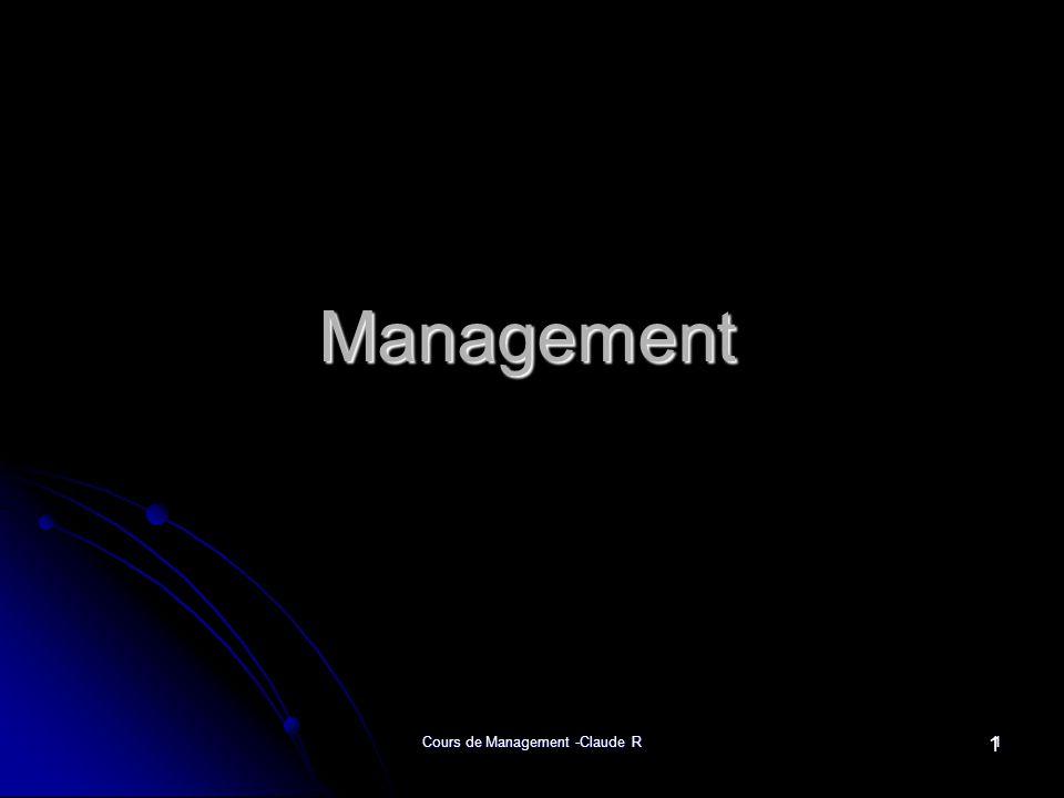 Cours de Management -Claude R