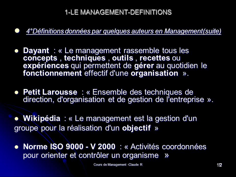 1-LE MANAGEMENT-DEFINITIONS
