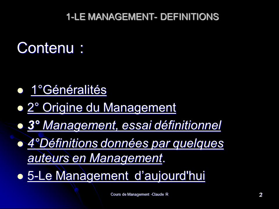 1-LE MANAGEMENT- DEFINITIONS