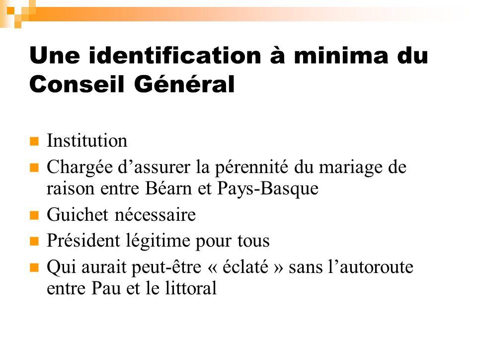 Une identification à minima du Conseil Général