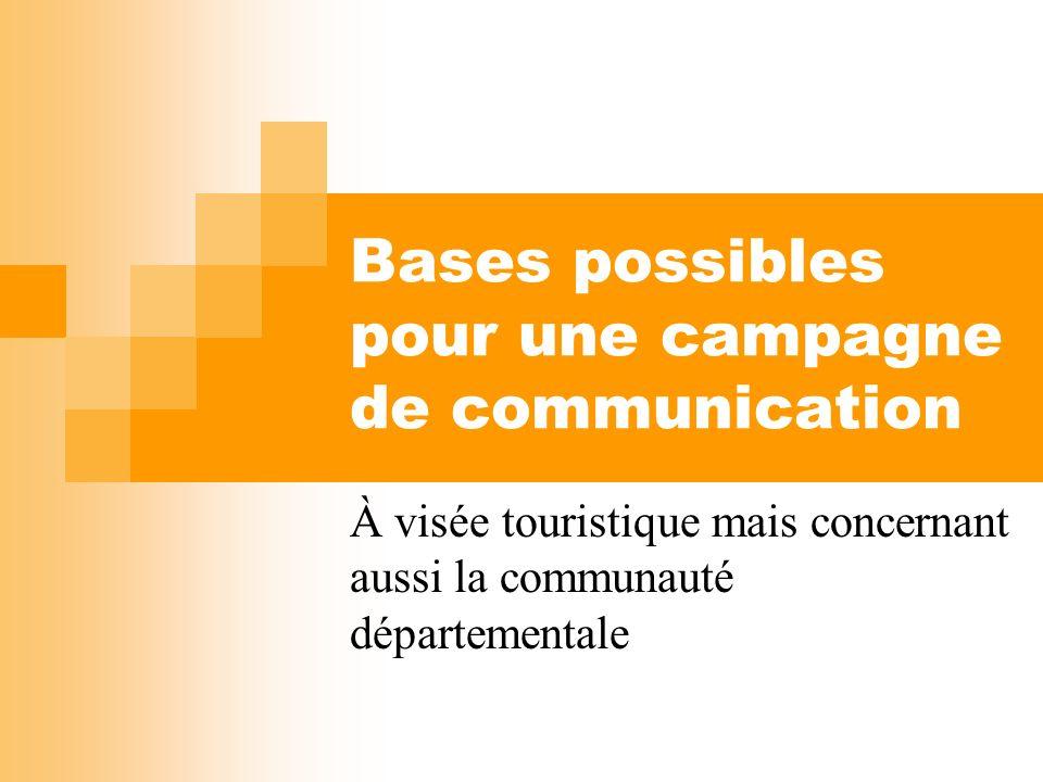 Bases possibles pour une campagne de communication