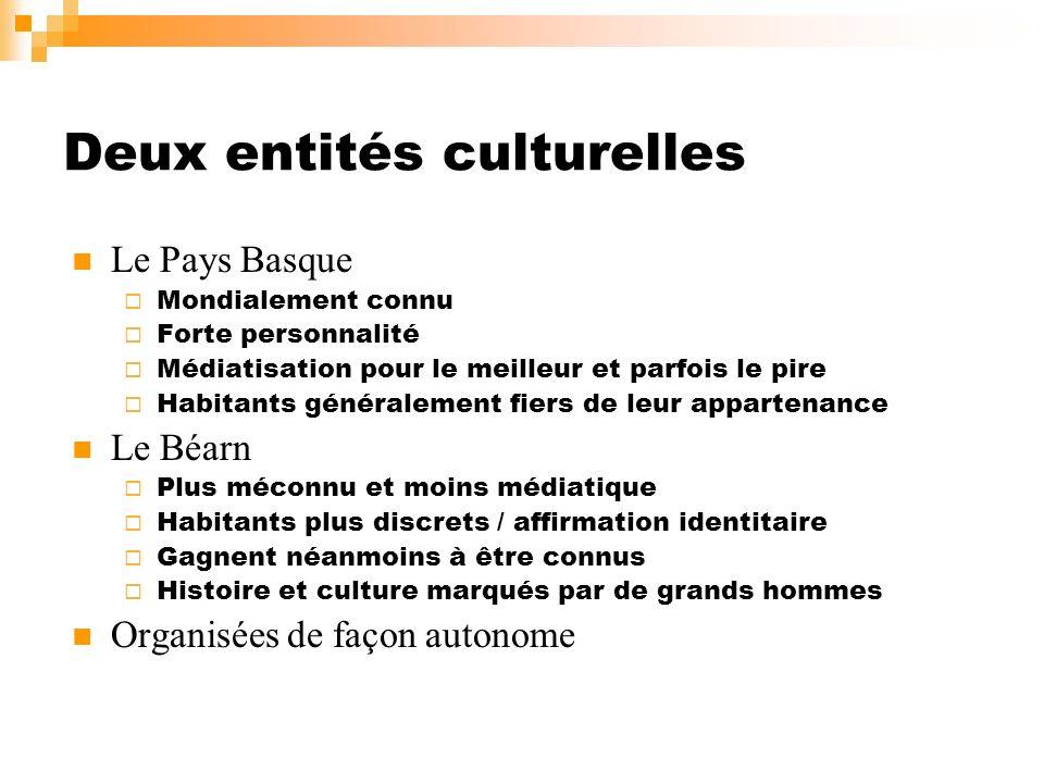 Deux entités culturelles