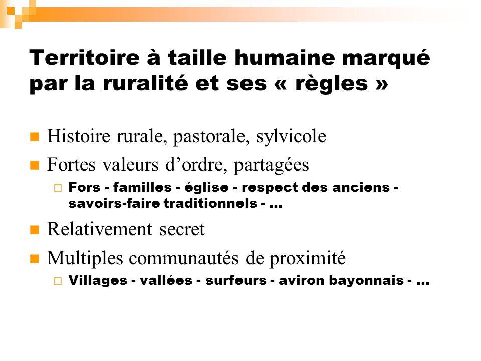 Territoire à taille humaine marqué par la ruralité et ses « règles »