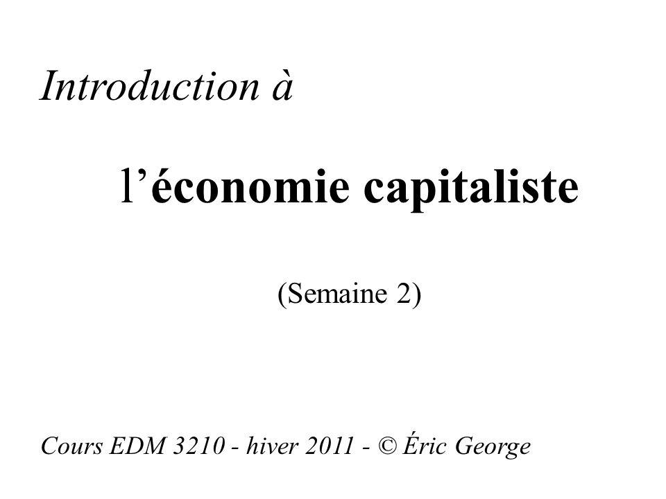 l'économie capitaliste